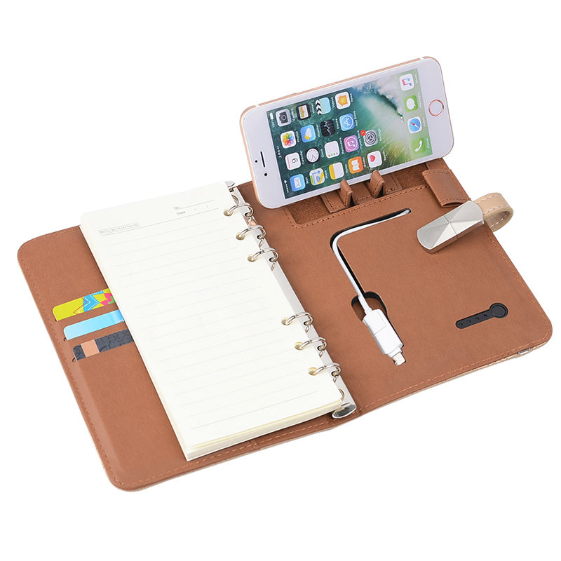 ФОТО 6 In 1 Notebook with 3000 mAh Removable Battery Writing Pad with 8 GB PU Leather Notebook Office Supply Novel Gift Customized