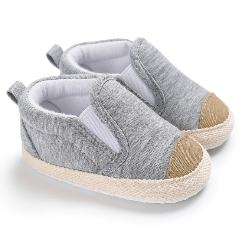 Baby Boys Girls Shoes Toddler Canvas Striped Soft Soled Infant Sneakers Newborn Baby Shoes