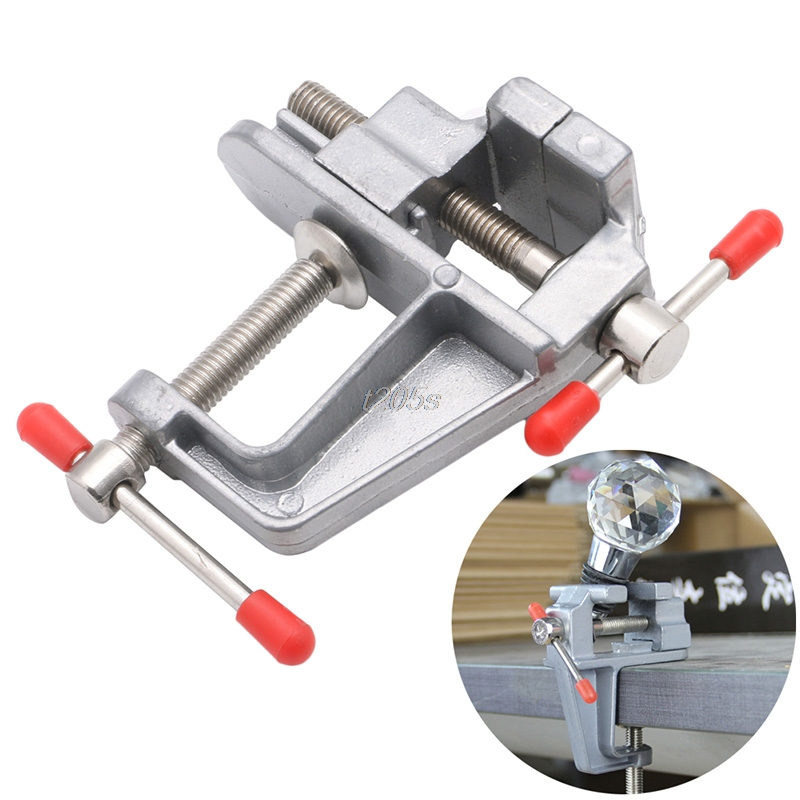35mm 1 PC Mini Tool Vice Aluminum Small Clamp On Table Jewelers Hobby Bench Tool New T12 Drop ship