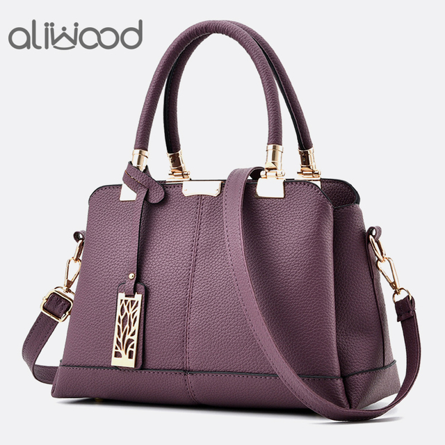 Aliwood Hot sale Elegant Leather Women's handbags Shoulder Messenger Bags Females Crossbody Bags Leisure Tote with Hollow signs
