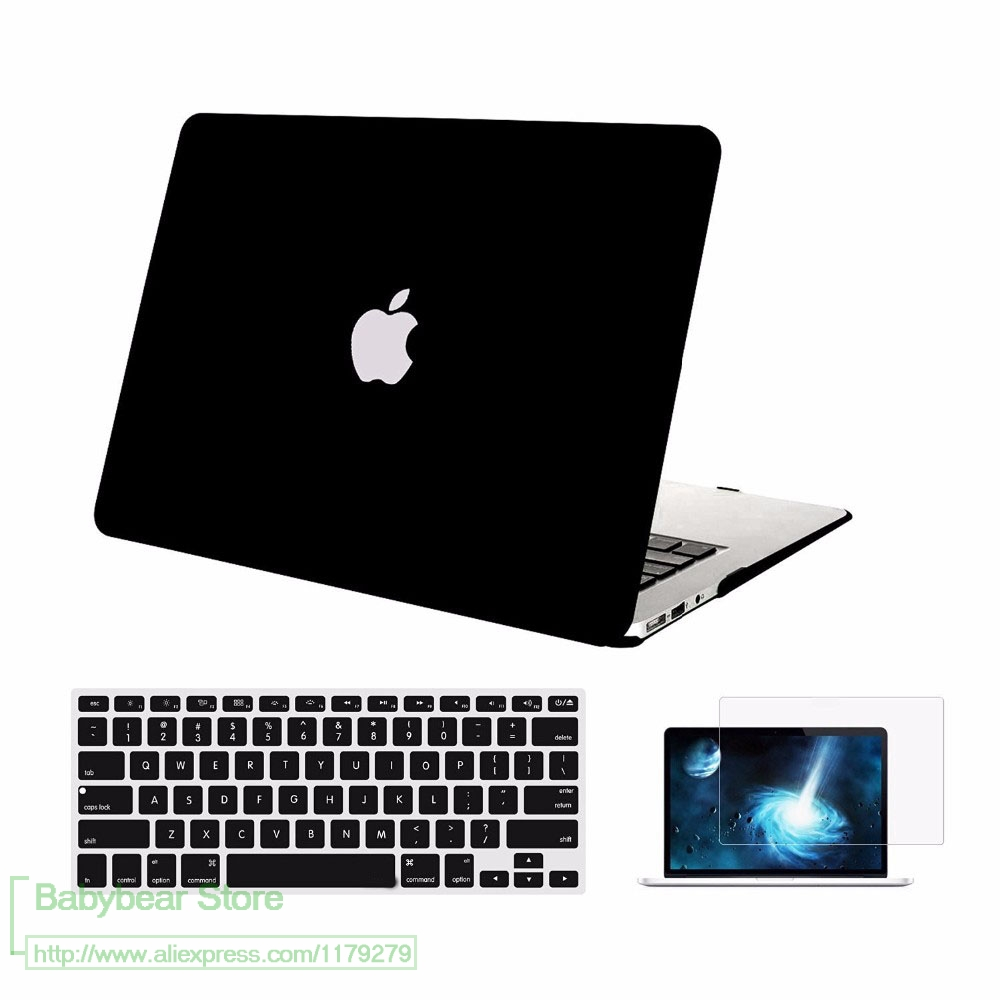 3in1 For Apple Macbook Air 13 Plastic Hard Case Cover For