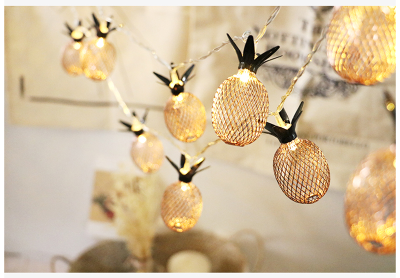New Arrival Fairy Led Retro Pipeapple String Lights 1.5M 3M LED Novelty Holiday Bedroom Wedding Party Romantic Warm Light Decor (23)