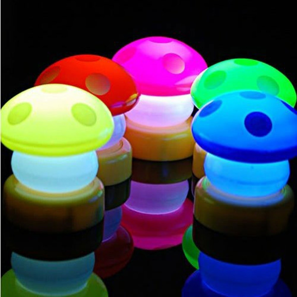 Colorful Mushroom LED Touch Lamp Night Light Novelty Lighting For Kids Baby Bedroom Home Decor Wedding Party Christmas Gifts