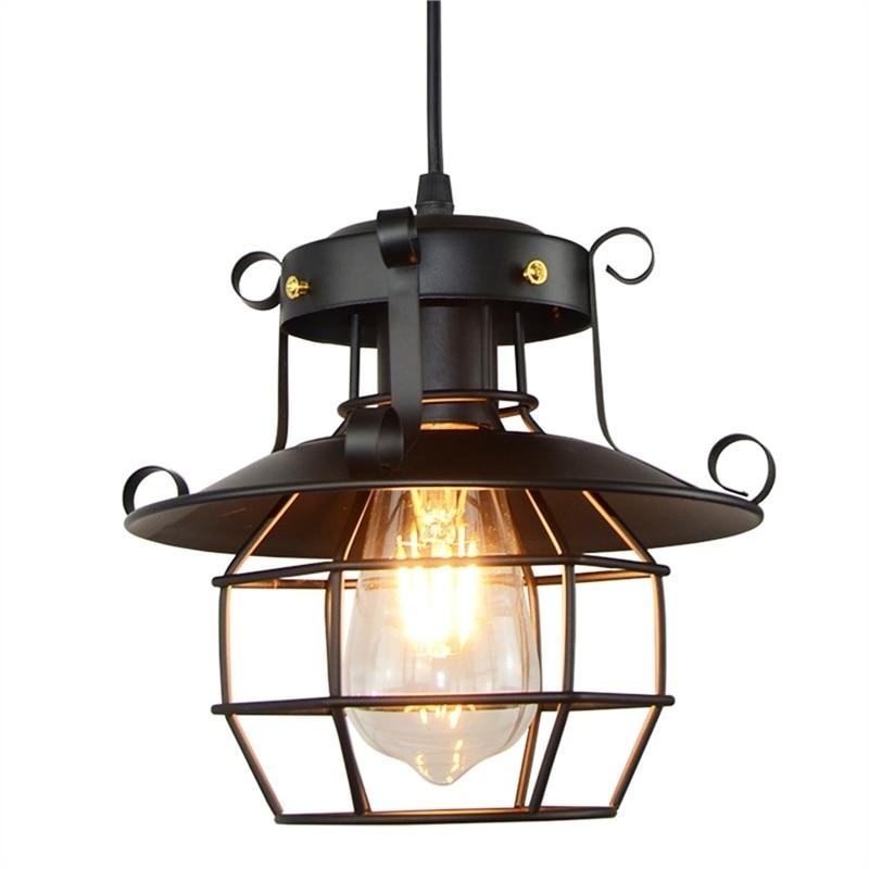 Ретро винтажная промышленная люстра с абажуром потолочный светильник под старину для домашнего кафе(без лампы