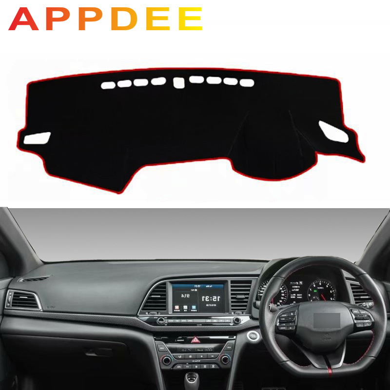 APPDEE For Hyundai Avante Elantra I35 2015 2016 2017 2018 2019 Car Styling Covers Dashmat Dash Mat Sun Shade Dashboard Cover Sun