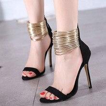 Schuhe frau Neue Stiletto zapatos mujer sandalen geistige ankle-warp high heels offene spitze Dame kleid partei pumpen alias femininas