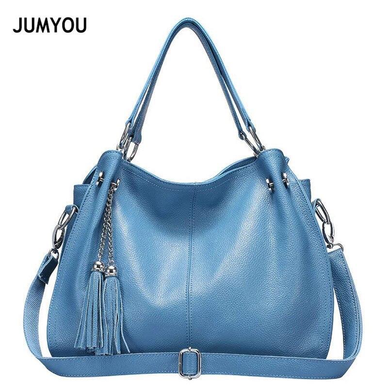 Femmes sacs à Main 2018 sacs à bandoulière Split cuir Hobos sacs décontracté bleu clair Sac A Main sacs à Main sacs à bandoulière pour fille