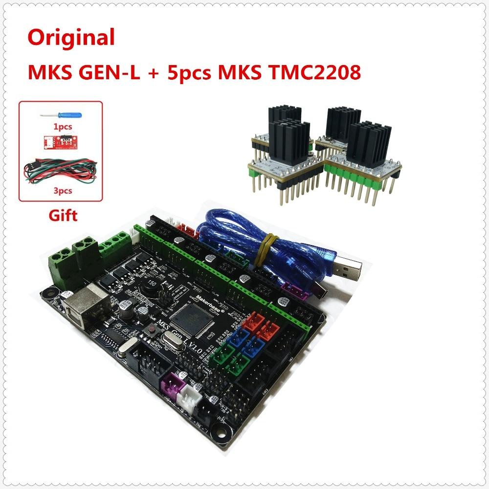 MKS GEN L 5pcs MKS TMC2208 stepper motor driver 3D printer shield control panel mainboard diy