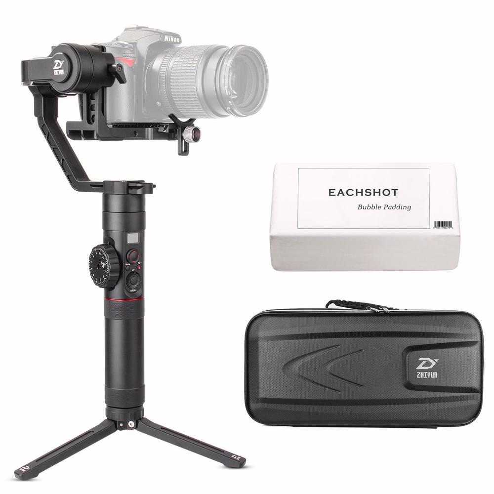 Livraison gratuite Zhiyun Crane 2 nouveau cardan stabilisateur pour tous les appareils photo DSLR avec câble de commande de caméra trépied suivi Focus
