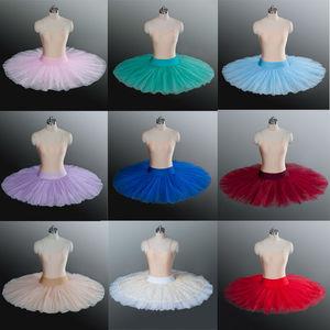 Image 3 - Baletowa spódniczka tutu profesjonalna próba tutu półmisek baletowa spódniczka tutu s ćwicząca pół baletowa spódniczka tutu naleśnik pół tutus dla dziewczynek