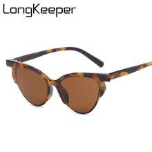 Women Cat Eye Sunglasses Brand Disegner Half Rim Frame Sun Glasses Yellow Glasses Ladies Fashion Eyeglasses UV400 hot selling цены