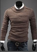 2016 new Men's clothing brand fashion Slim Fit round neck warm sweater hedging men Casual winter Wool Sweaters
