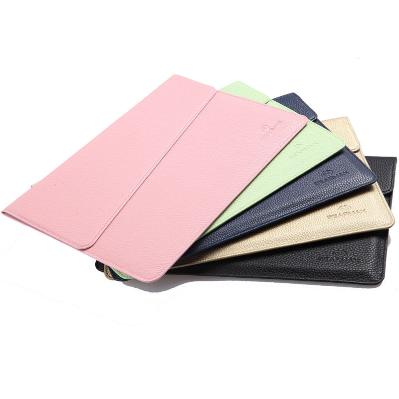 official photos 2ddf3 c2d45 US $23.99 |Laptop Sleeve for Apple Macbook Air 13 Inch High Quality Laptop  Bag Waterproof Leather Laptop Sleeve for Mac Book Pro Retina 15-in Laptop  ...