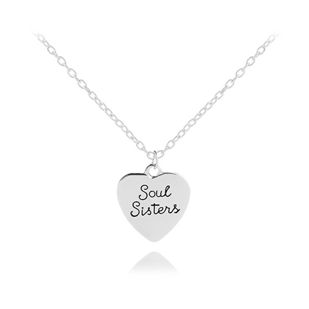 REAL Silver Heart Necklace Best Sister Jewellery Gift Box Birthday Present Sis