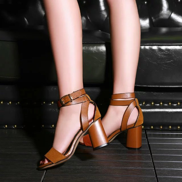 ECTIC Women Sandals New Arrival Fashion Hot Sale 2018 Summer Women Classics Sandals Office Lady Woman Shoes Black Brown PB-70 anmairon shallow leisure striped sandals women flats shoes new big size34 43 pu free shipping fashion hot sale platform sandals