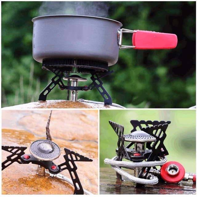 2016 Hot sale High quality Sports Camping Picnic Cookout Portable Foldable Stove Furnace Split Gas Stove