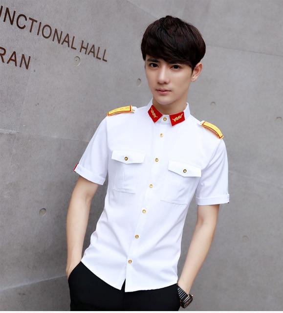 Shirts Mens White Military Shirts With Epaul Aeronautica Militare Men 2017 Mens Work Shirts Club Outfits Black Camisas Slim Fit 5