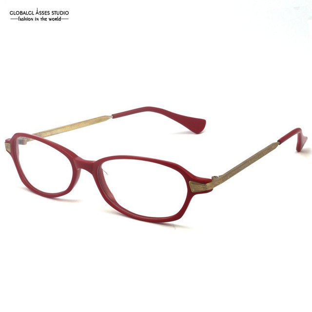 d8da6b99643e Stylish Brand Design Classic Red Acetate Frame With Stainless Steel For  Teenagers Eyeglasses Optical Eyeglasses Eyewear C054