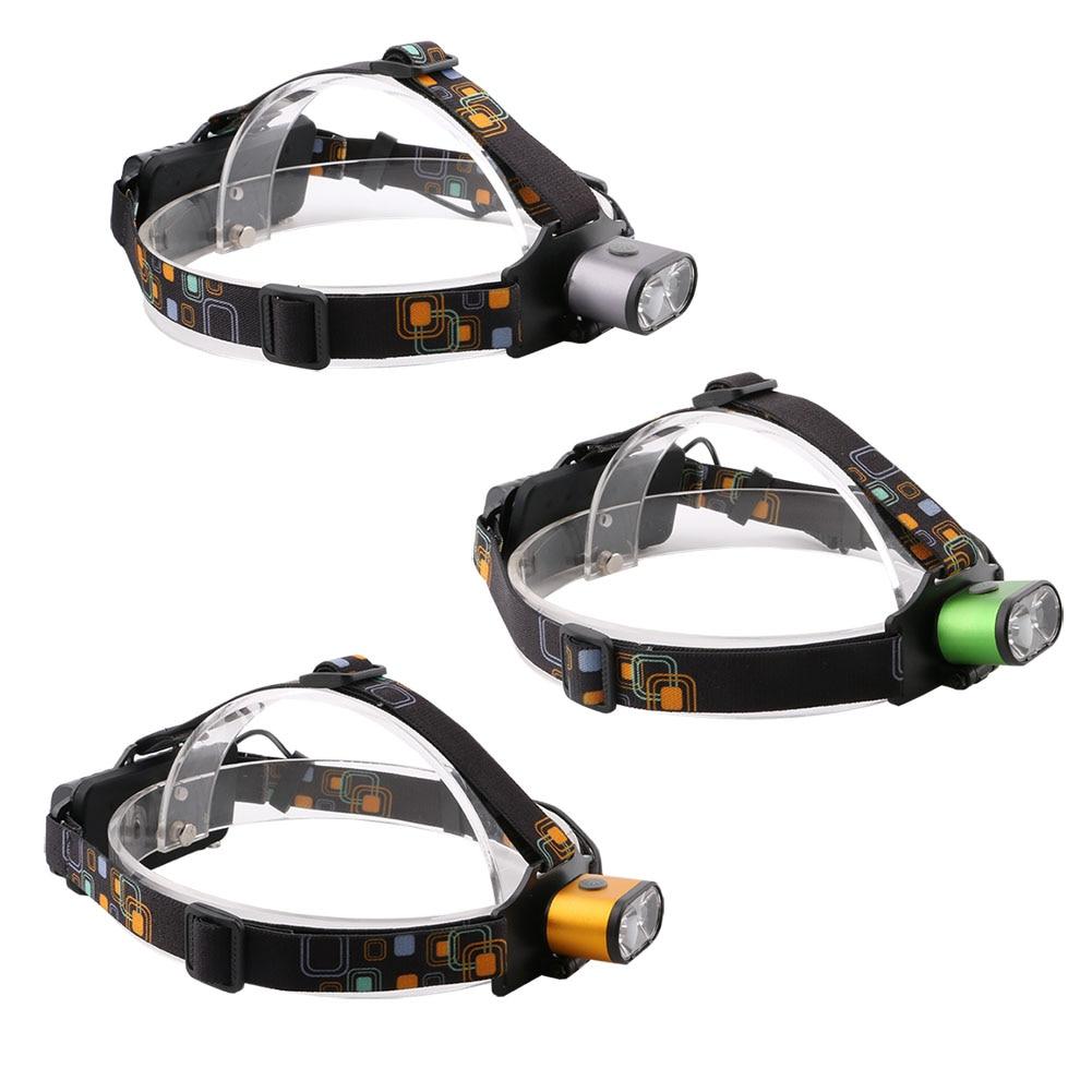 New 2 LEDs Super Bright 5000LM XML T6 LED Headlight Headlamp USB Rechargeable LED Head Light