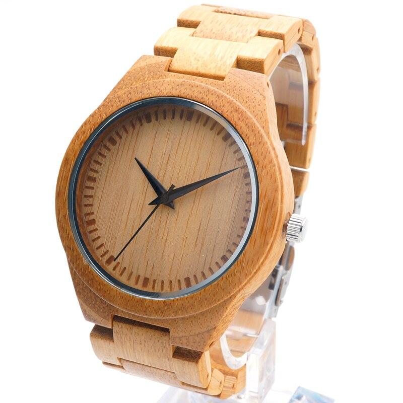 BOBO BIRD D19 Relogio Feminino Mens Bamboo watches Top Brand Luxury Wooden Watch Japan 2035 moyia