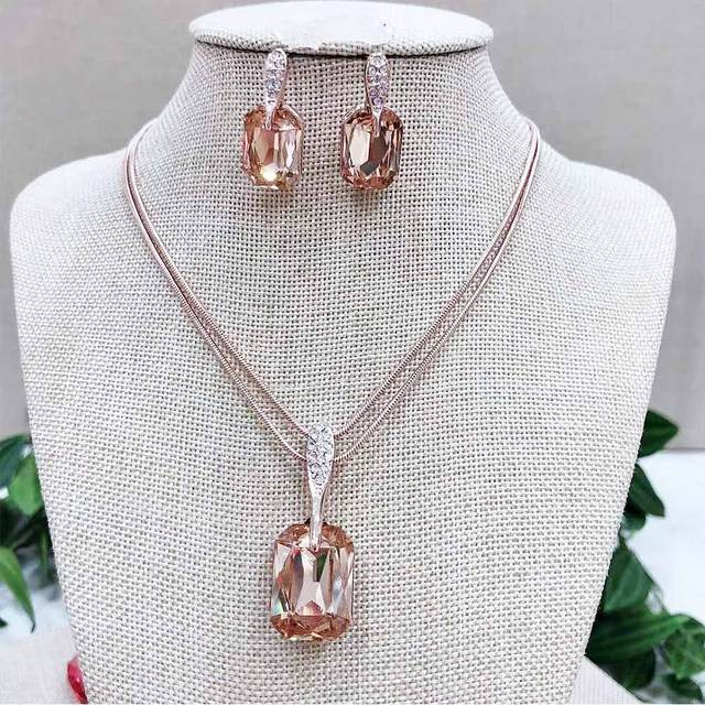 Viennois Rose Gold Crystal...