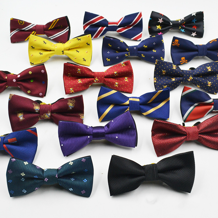 2021 Children Bow Tie Baby Kid Clothing Accessories Student Boys Gentleman Adjustable Suit Shirt Neck Tie Bowknot Dot for Party