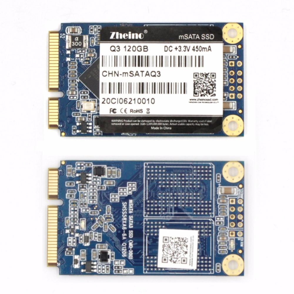 Zheino mSATA SSD SATA3 120 gb Solid State Disque Dur Pour PC Portable De Bureau