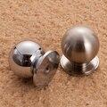 Sólido Satin nickel Chrome alumínio espaço do armário Handle Knob armário gaveta dresser alças cozinha puxa Single Hole 23 mm