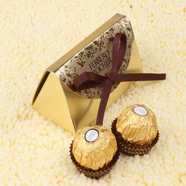 Wedding Decoration Mariage Candy Chocolates Box Exclusive Italian Embossed Bow Favors Gifts Party
