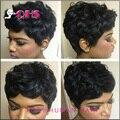 Новое поступление человеческие волосы вьющиеся парик короткие glueless афро кудрявый курчавый парик бразильские волосы фронта парики для чернокожих женщин