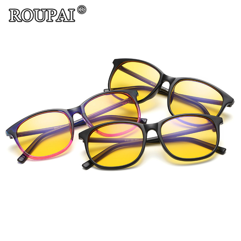ROUPAI Radiation Protection Computer Glasses Men Women Optical Anti-blue Rays Gaming Glasses 2017 New Fashion Hipster Eyewear