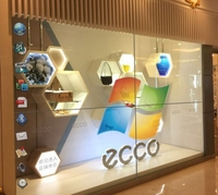 Transparent lcd video wall for shopping mall advertising display