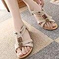 Sandálias Das Mulheres Flip Flops Verão 2017 Bohemian Sapatos Cunhas Sapatos Para As Mulheres Sandálias Gladiador Das Mulheres