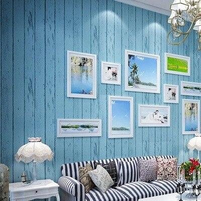 tienda online mediterrneo rural vintage simple grano de madera papel pintado a rayas promocin no tejido mural dormitorio sala d de paredes