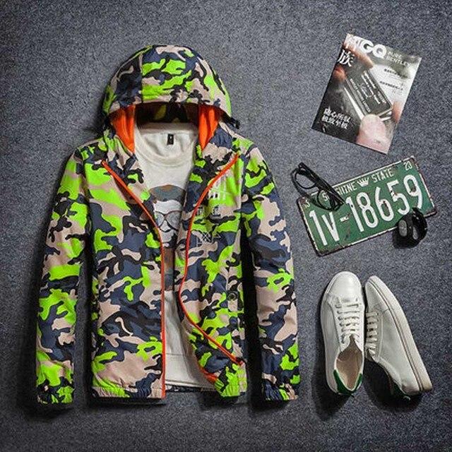2017 spring autumn mens jackets outwear men's Windbreaker  Sportswear Outdoors varsity Hoodies Men Camouflage Men Jackets Coats