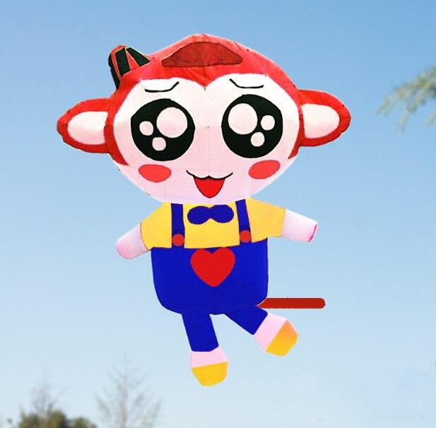 Livraison gratuite de haute qualité grand 3.5 m singe doux cerf-volant pendentif tissu en plein air jouets weifang animal cerf-volant roue ripstop nylon