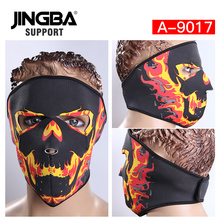 JINGBA SUPPORT Hot Halloween Skull Cool Mask Neoprene Full Face Facemask Outdoor Riding Sport Motorcycle Windproof Ski Bike Mask цены