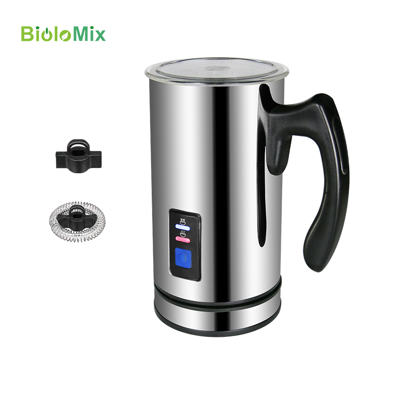 Biolomix Automatic Electric Milk Frother Foamer with Stainless Steel Container for Cappuccino Coffee Machine Maker Hot