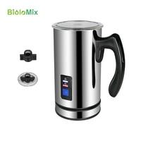 Biolomix automático elétrico leite frother foamer com recipiente de aço inoxidável para máquina café cappuccino fabricante quente/fresco 500 w|Cafeteiras| |  -