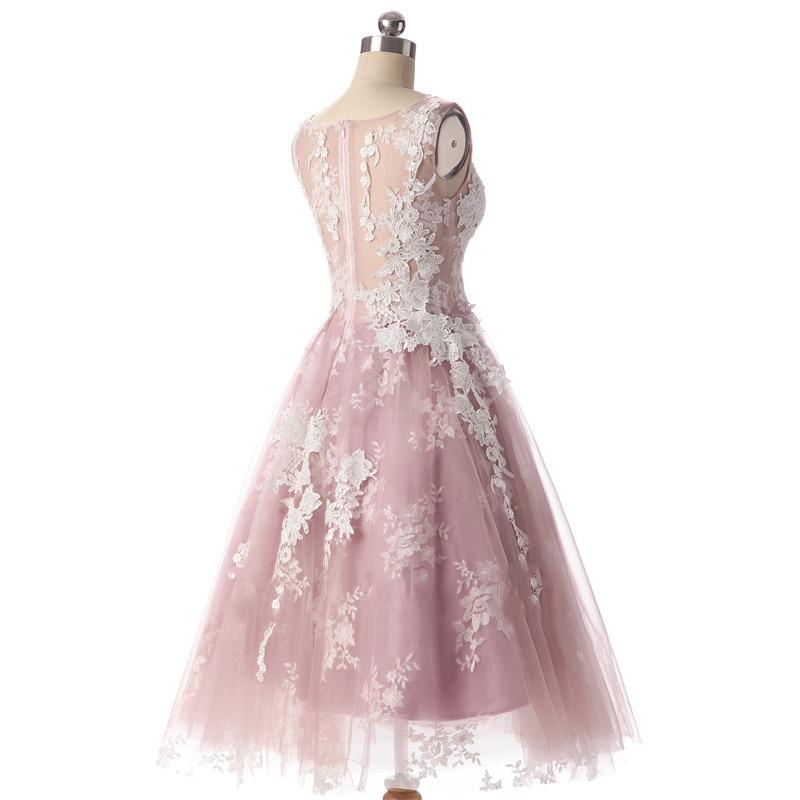 Aswomoye Elegancka krótka sukienka wieczorowa 2018 Nowa elegancka - Suknie specjalne okazje - Zdjęcie 5