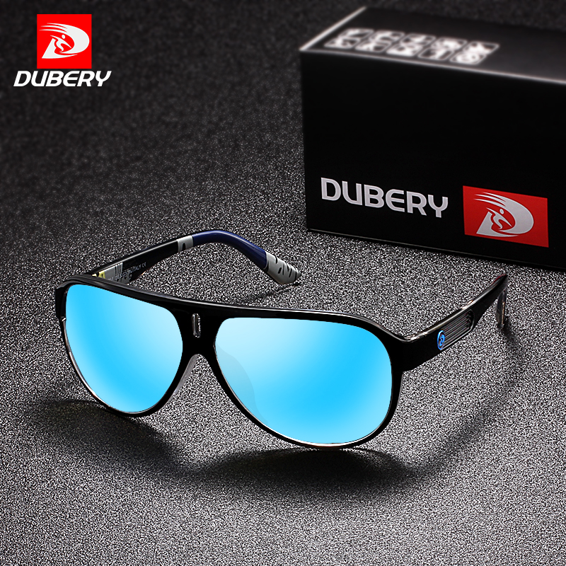 DUBERY 2018 Desporto Óculos Polarizados Para Homens Óculos de Sol Óculos de  Condução Espelho Cor da Personalidade de Luxo Da Marca Designer UV400 em  Óculos ... 4459fcd2cd