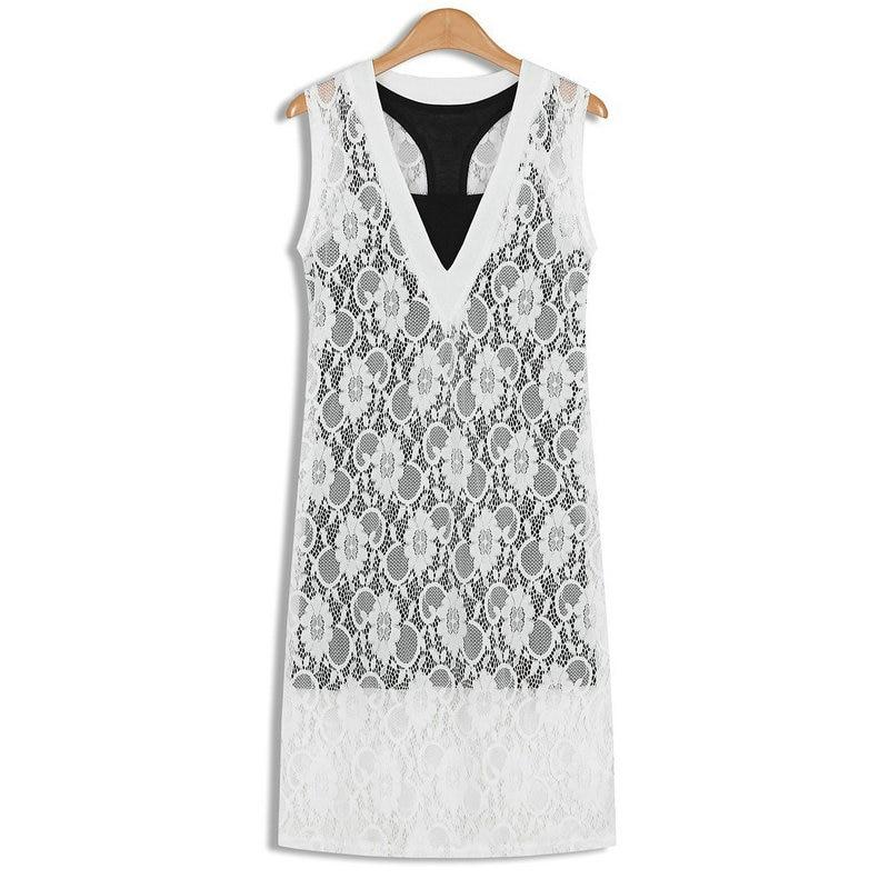 2018 sommer neue frauen v-ausschnitt mode häkeln ärmellose weste - Damenbekleidung - Foto 1
