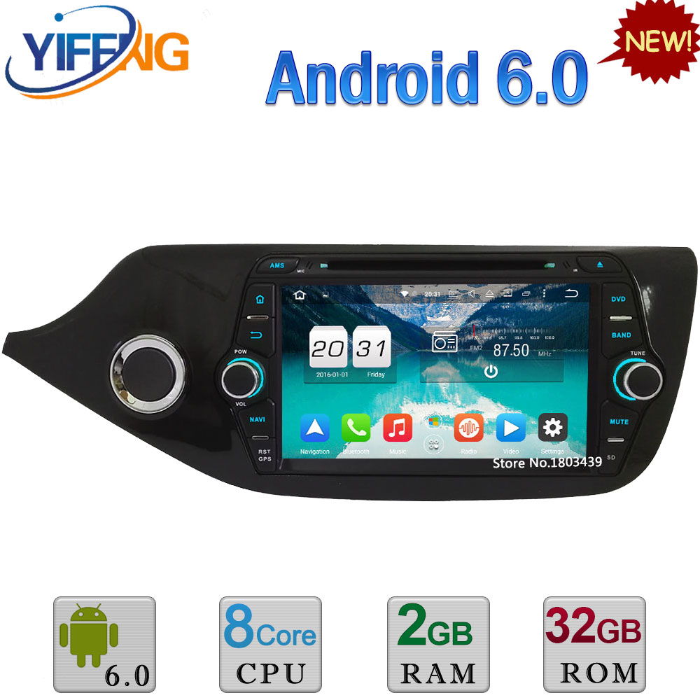 8 4GB RAM 32GB ROM Octa Core PX5 Android 6.0 WIFI 3G/4G DAB+ RDS USB Car DVD Radio Audio GPS Player For Kia CEED 2012 2016 2017