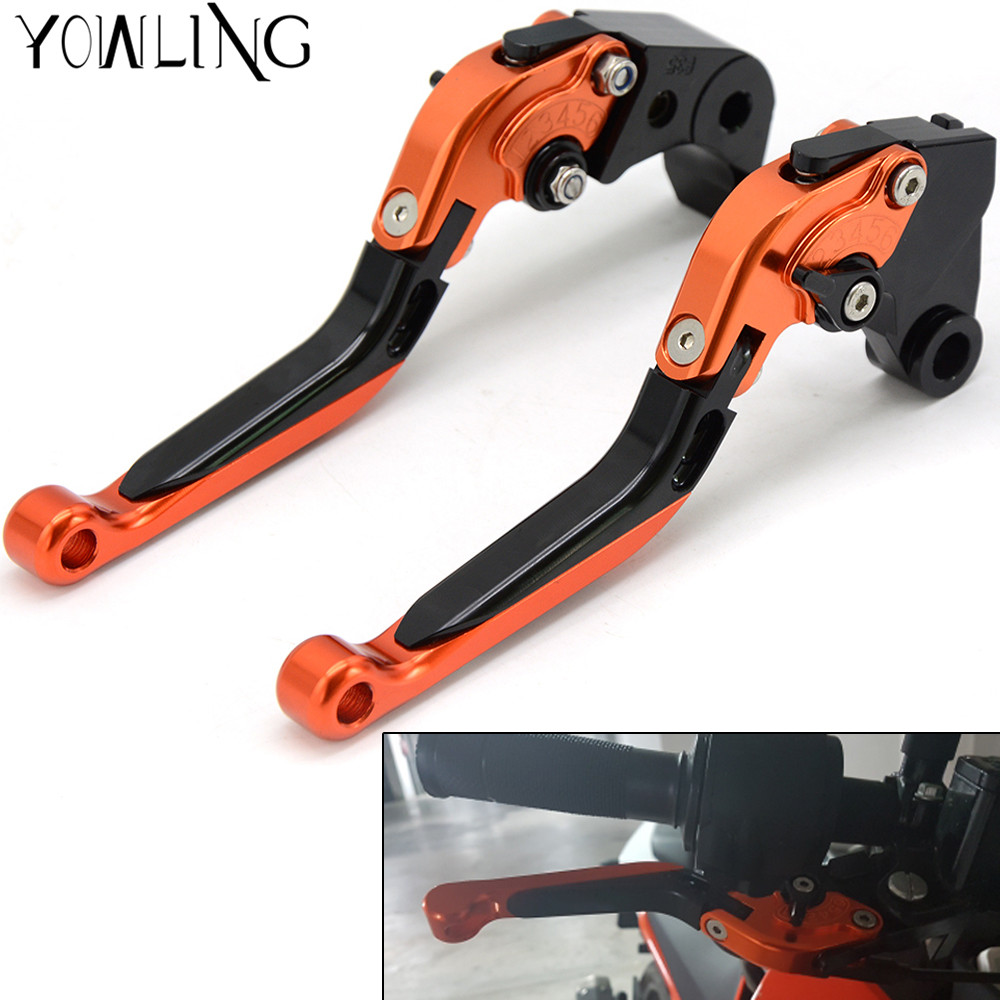 For KTM Motorcycle handbrake Brake Levers adjustable Folding Clutch For KTM 390 Duke RC 390 DUKE 250 2013 2014 2015 2016 for ktm 390 duke motorcycle leather pillon rear passenger seat orange color