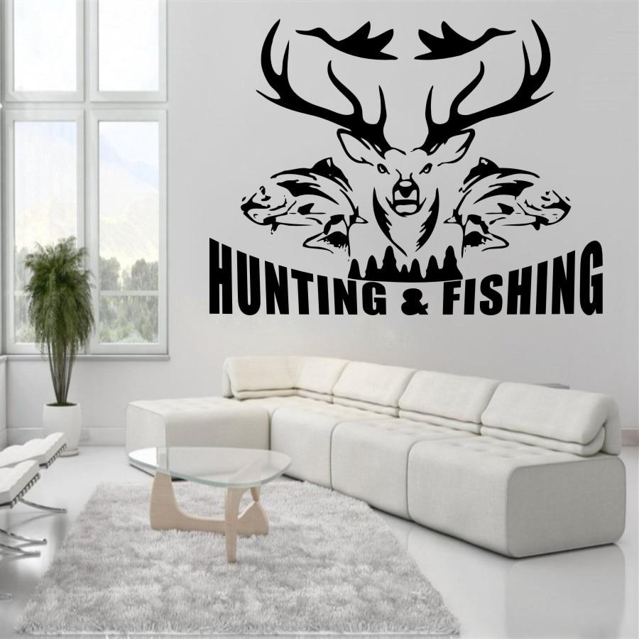 YOYOYU Art Home Decor Hunting And Fishing Birds Fish Stag