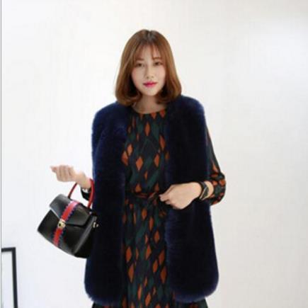 Lapin De Fourrure Femmes 2019 Manteaux Automne Moelleux hiver Renard Gilet  Outwear Grands Faux M501 caxq1w8xSg 92965525da7