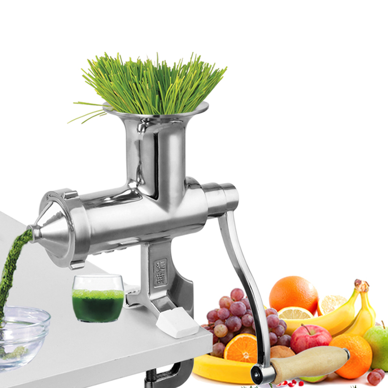 Manual Stainless Steel Wheat Grass Juicer Hand Shake Raw Pressed Fruit Squeezed Ginger Juice Machine Wheat Slag Juice MachineManual Stainless Steel Wheat Grass Juicer Hand Shake Raw Pressed Fruit Squeezed Ginger Juice Machine Wheat Slag Juice Machine