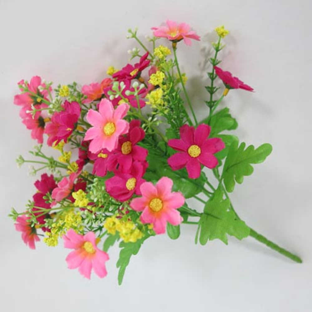 1 ช่อดอกไม้ 28 หัวประดิษฐ์ดอกไม้เดซี่น่ารัก Handmade ประดิษฐ์ดอกไม้ตกแต่งดอกไม้งานแต่งงานตกแต่งบ้านสวน