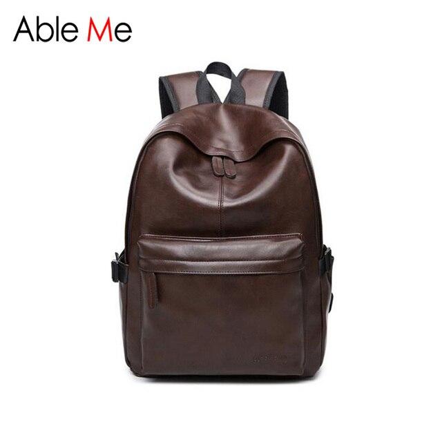 High Quality PU Leather Backpack For Men And Women Korean Version Simple Style Men Rucksack New Arrivel Back Bag