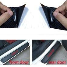 4pcs for Honda HR-V Car Styling Sticker Carbon Fiber Door Vinyl Sill Protector Wear Plate